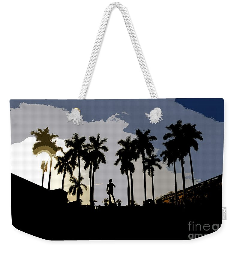 David Weekender Tote Bag featuring the painting David by David Lee Thompson