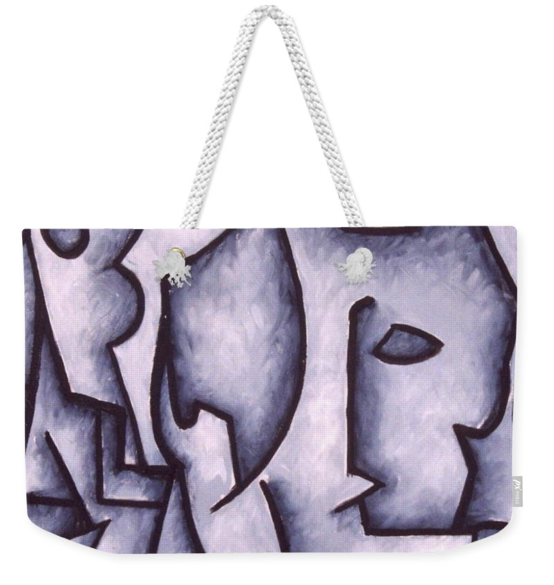 Abstract Weekender Tote Bag featuring the painting David by Thomas Valentine