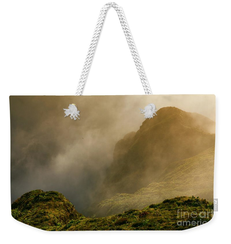 Azores Weekender Tote Bag featuring the photograph Dawn At Fogo Crater by Gaspar Avila