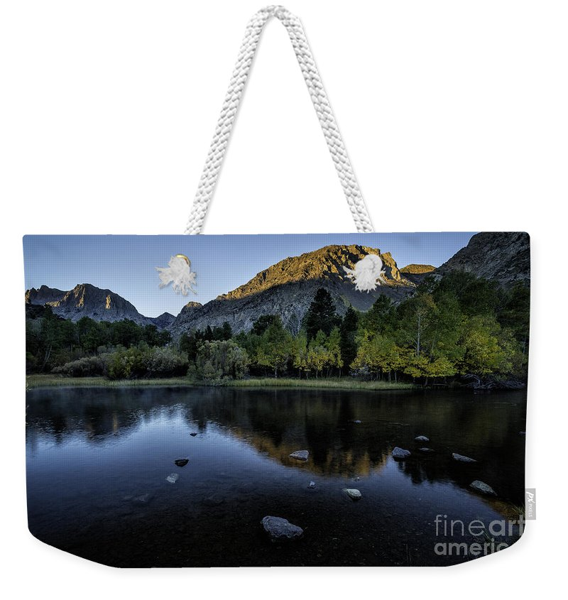 Rush Creek Weekender Tote Bag featuring the photograph Dawn At Rush Creek 3 by Timothy Hacker
