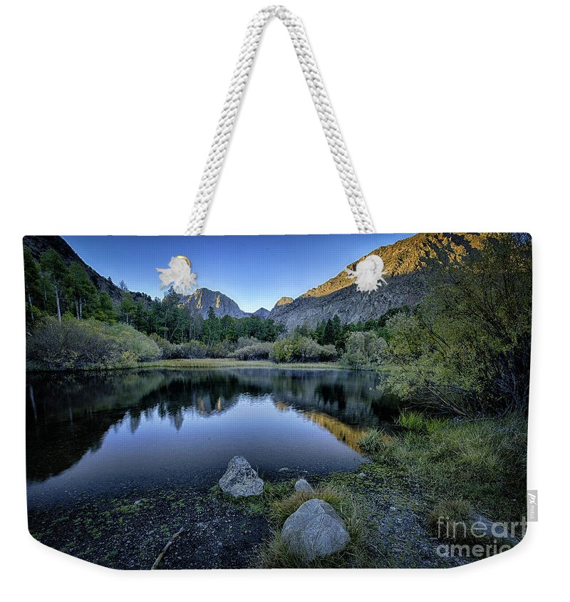 Rush Creek Weekender Tote Bag featuring the photograph Dawn At Rush Creek 4 by Timothy Hacker
