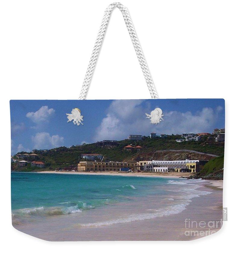 Dawn Beach Weekender Tote Bag featuring the photograph Dawn Beach by Debbi Granruth