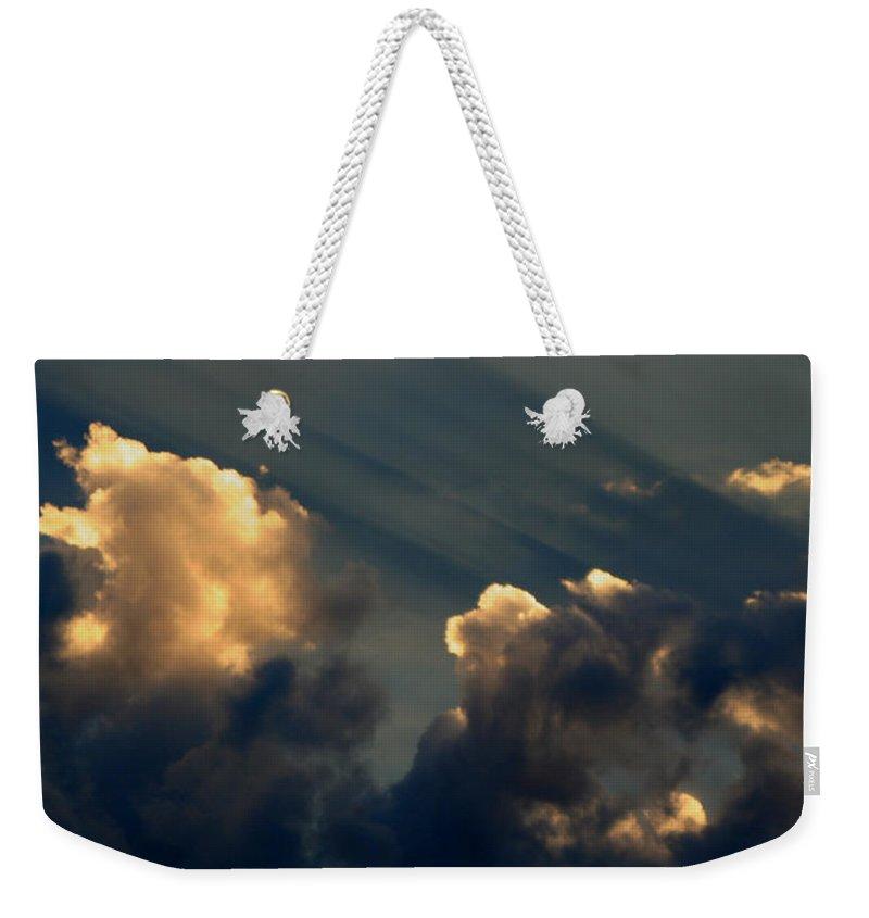 Cloud Weekender Tote Bag featuring the photograph Dawn Bursting In Air by Joe Kozlowski