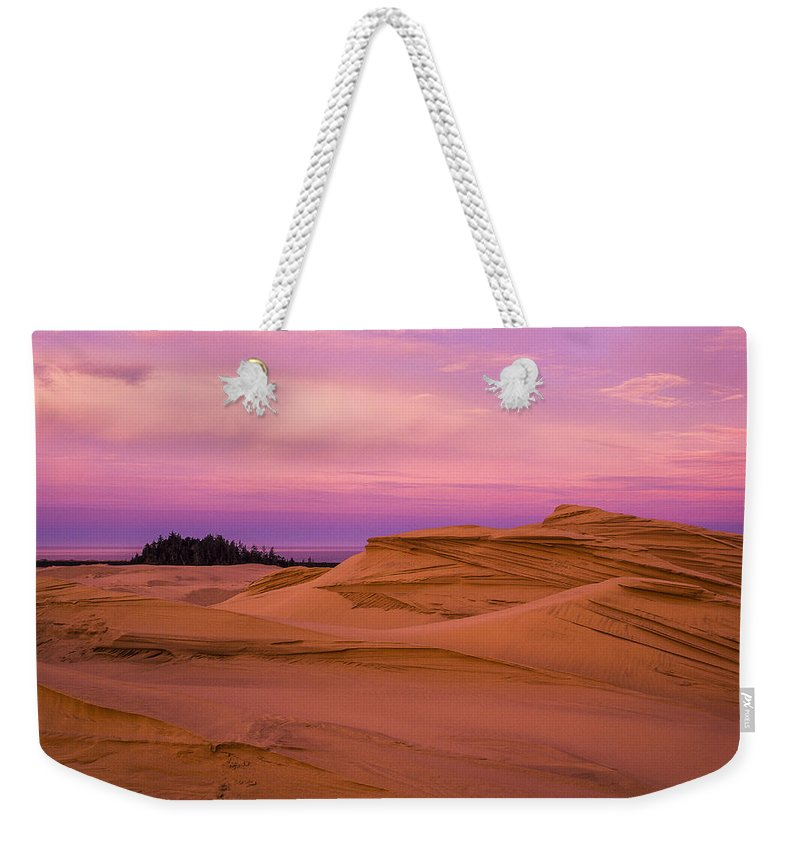 Coast Weekender Tote Bag featuring the photograph Dawn Dunes by Robert Potts