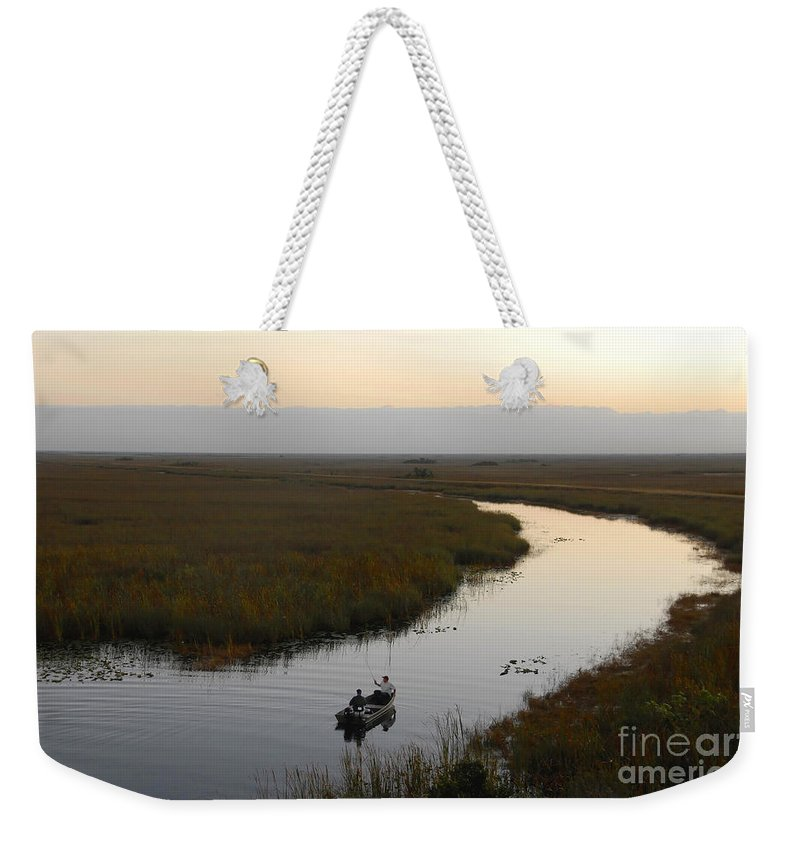 Fishing Weekender Tote Bag featuring the photograph Dawn Everglades Florida by David Lee Thompson