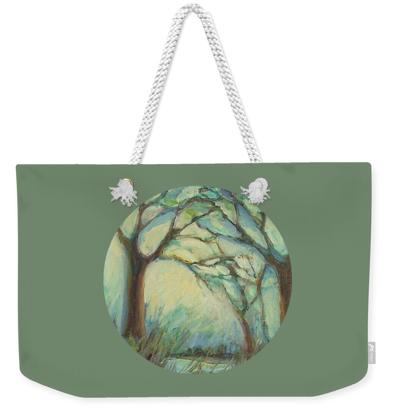 Impressionism Weekender Tote Bag featuring the painting Dawn by Mary Wolf