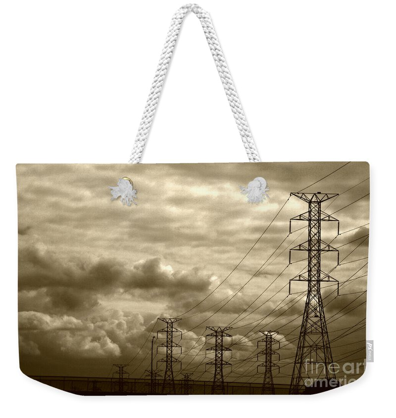 Clay Weekender Tote Bag featuring the photograph Dawn Of Industrialization by Clayton Bruster