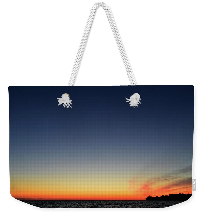 Abstract Weekender Tote Bag featuring the photograph Dawn On July 29-2017 by Lyle Crump