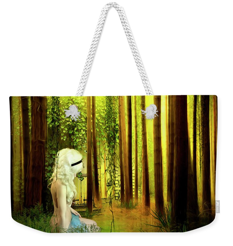 Forest Weekender Tote Bag featuring the digital art Dawn Refresh by Svetlana Sewell