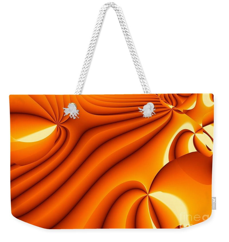 Fractal Image Weekender Tote Bag featuring the digital art Dawning by Ron Bissett