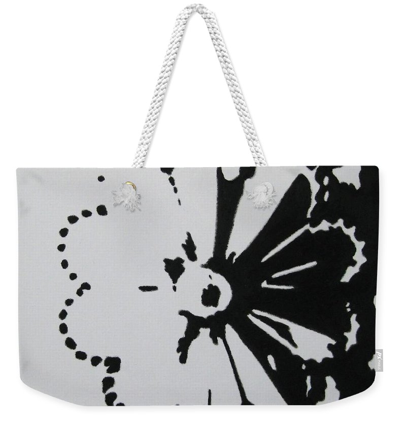 Abstract Weekender Tote Bag featuring the painting Day And Night I by Lynet McDonald