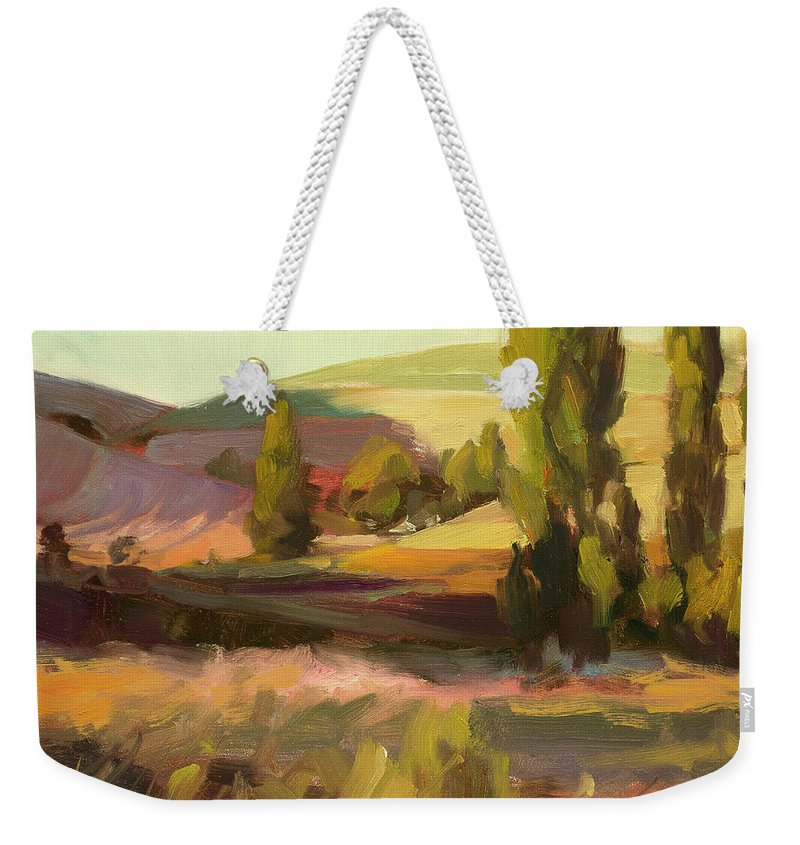 Country Weekender Tote Bag featuring the painting Day Closing by Steve Henderson