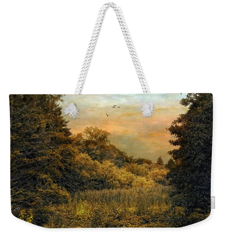Landscape Weekender Tote Bag featuring the photograph Day Is Done by Jessica Jenney