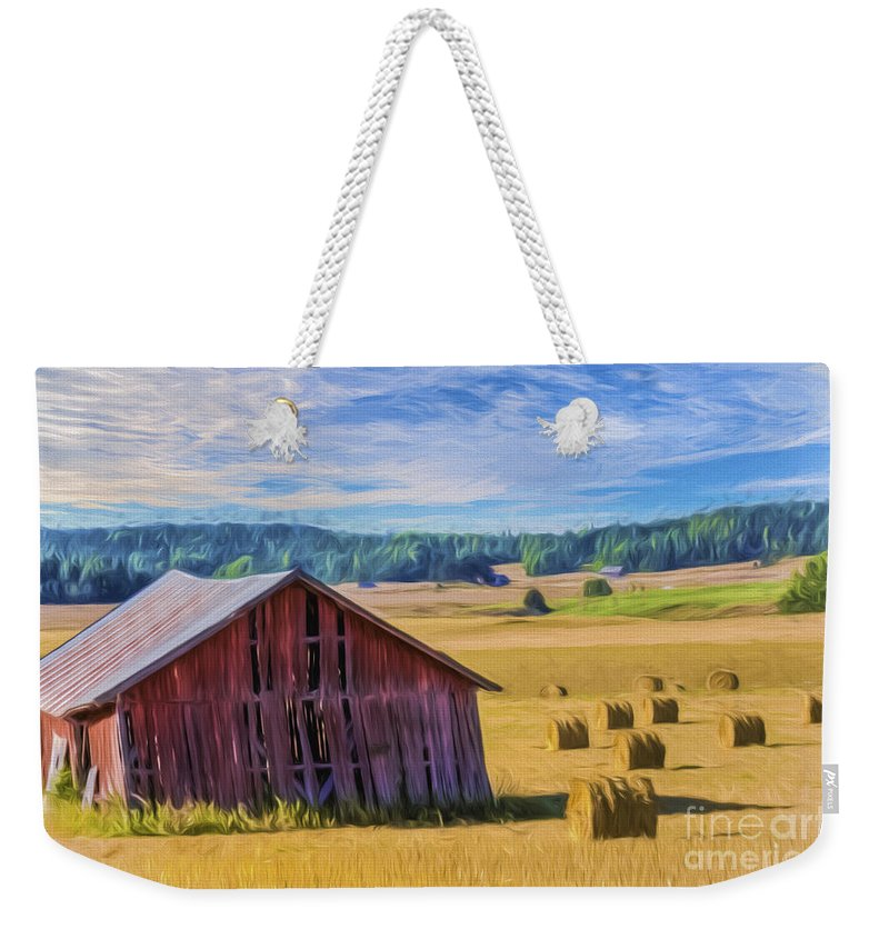Art Weekender Tote Bag featuring the painting Day of August by Veikko Suikkanen