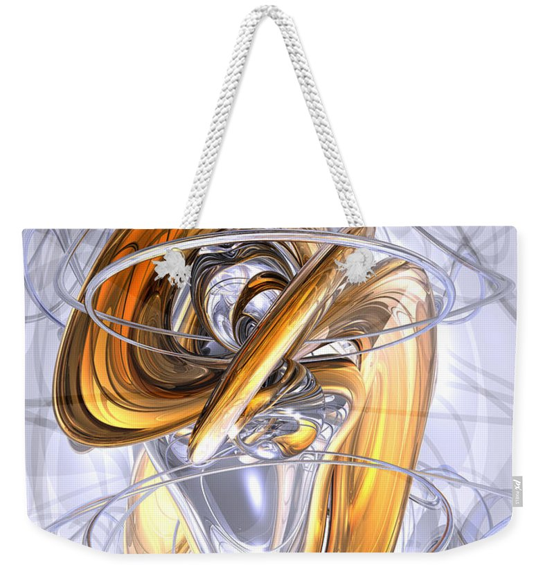 3d Weekender Tote Bag featuring the digital art Daydreamers Abstract by Alexander Butler