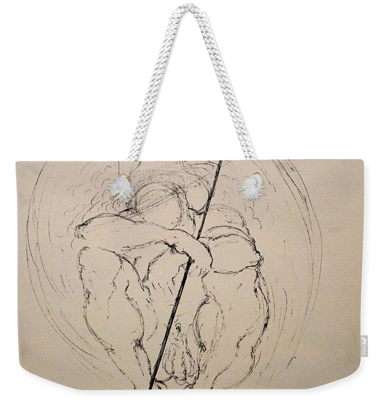 Love Weekender Tote Bag featuring the drawing Daydreaming Of The Return To Love by Giorgio Tuscani
