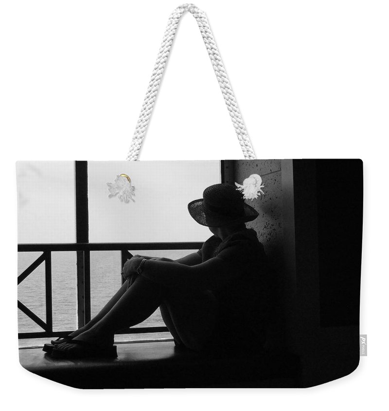 Black And White Weekender Tote Bag featuring the photograph Daydreaming by Robert Meanor