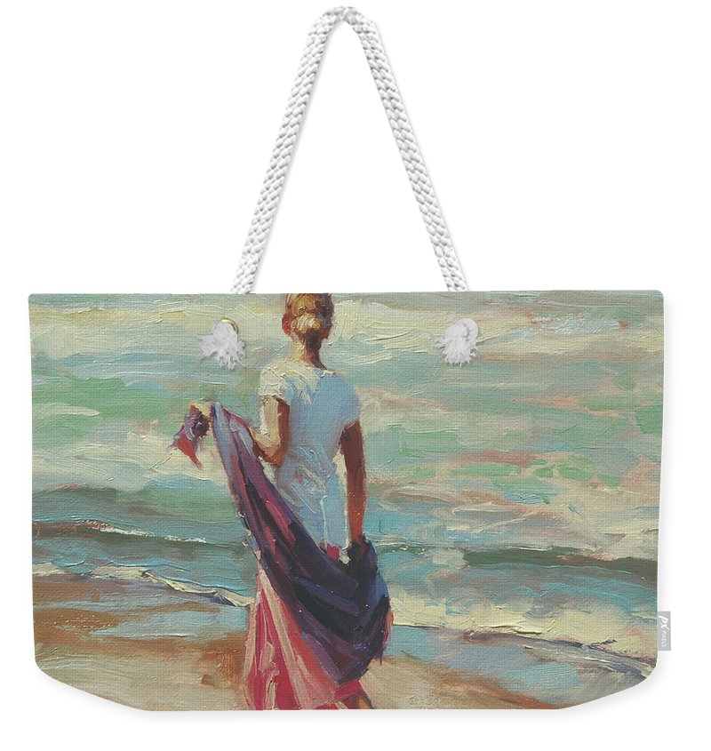 Coast Weekender Tote Bag featuring the painting Daydreaming by Steve Henderson