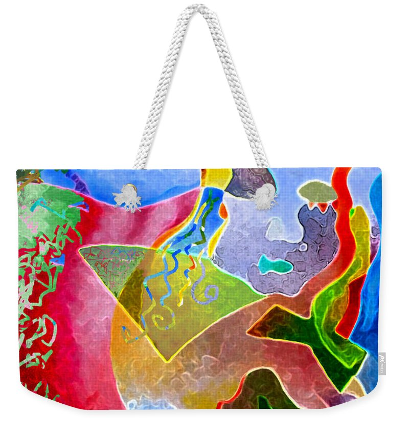 Coffee Weekender Tote Bag featuring the painting Daydreams by Sally Trace