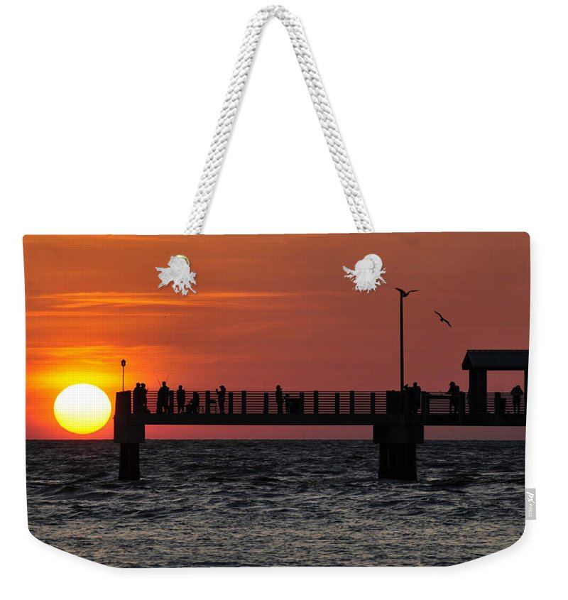 Fine Art Photography Weekender Tote Bag featuring the photograph Days End by David Lee Thompson