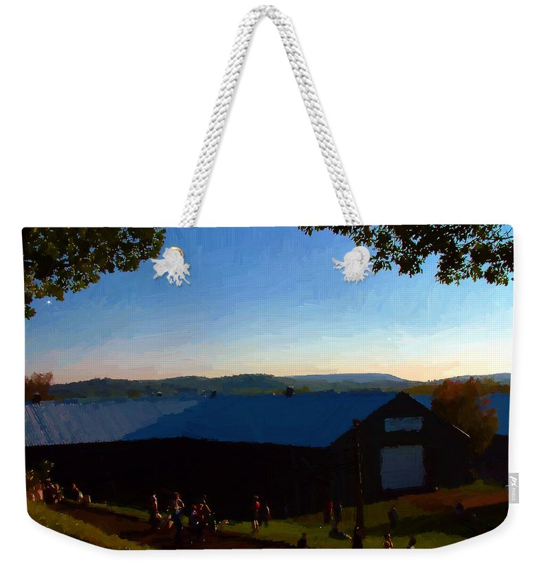 Autumn Weekender Tote Bag featuring the digital art Day's End by RC DeWinter