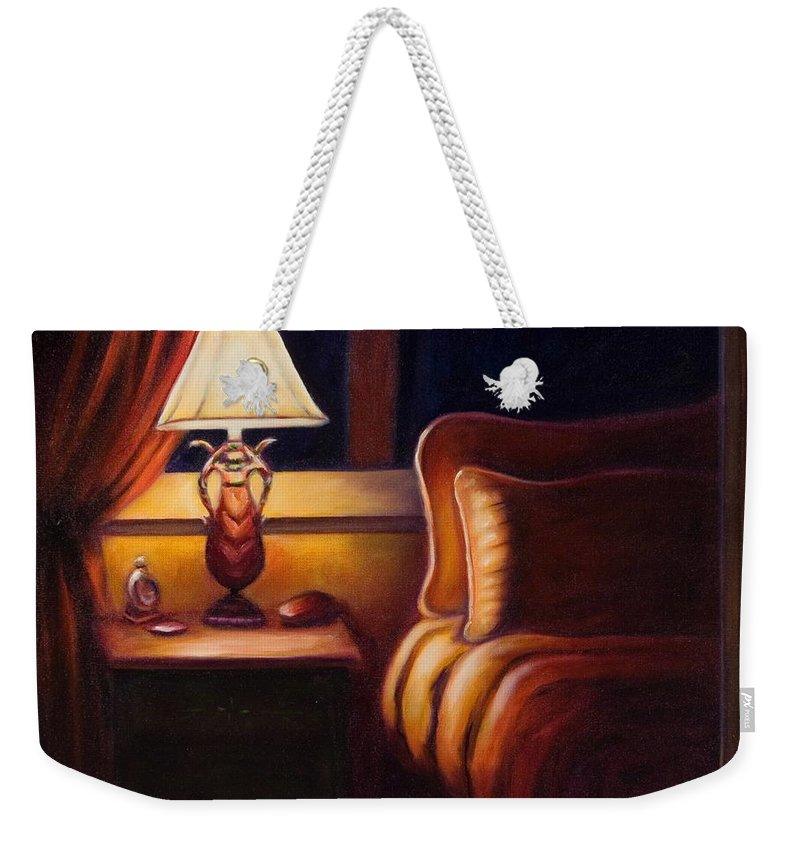 Still Life Weekender Tote Bag featuring the painting Days End by Shannon Grissom