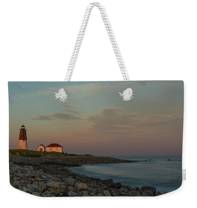 Lighthouse Weekender Tote Bag featuring the photograph Days End by Terri Mongeon