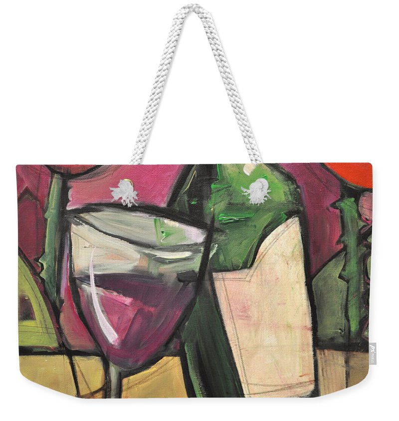 Wine Weekender Tote Bag featuring the painting Days Of Wine And Roses by Tim Nyberg