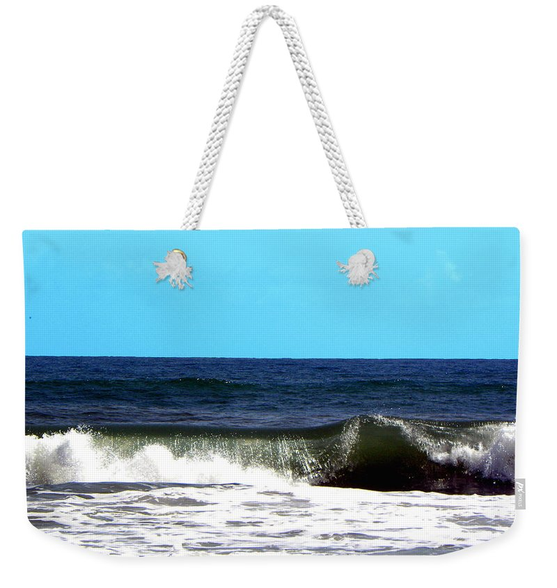 Daytona Weekender Tote Bag featuring the photograph Daytona Beach Surf 000 by Chris Mercer