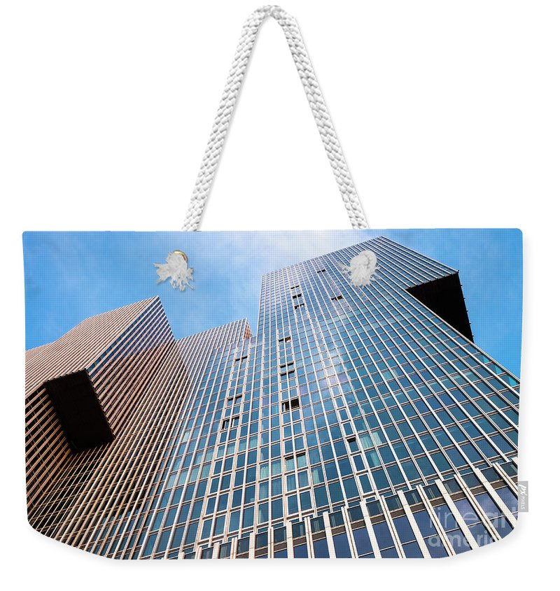 Rotterdam Weekender Tote Bag featuring the photograph De Rotterdam Vertical City by Philip Preston