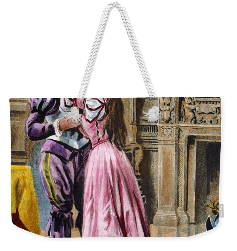 1539 Weekender Tote Bag featuring the photograph De Soto & Isabella, 1539 by Granger