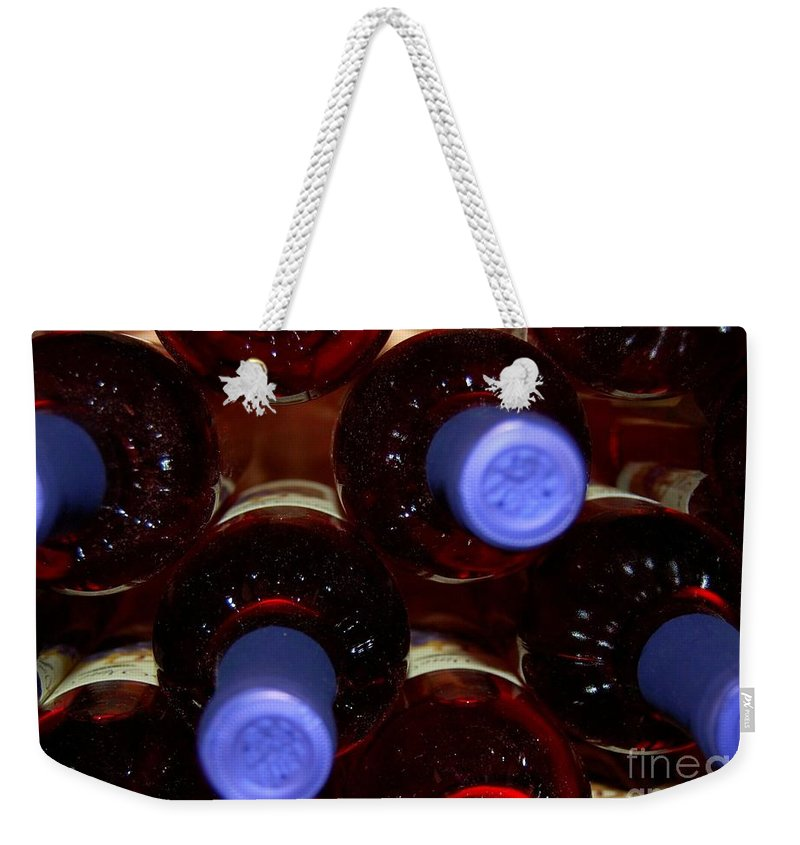 Wine Weekender Tote Bag featuring the photograph De-vine Wine by Debbi Granruth