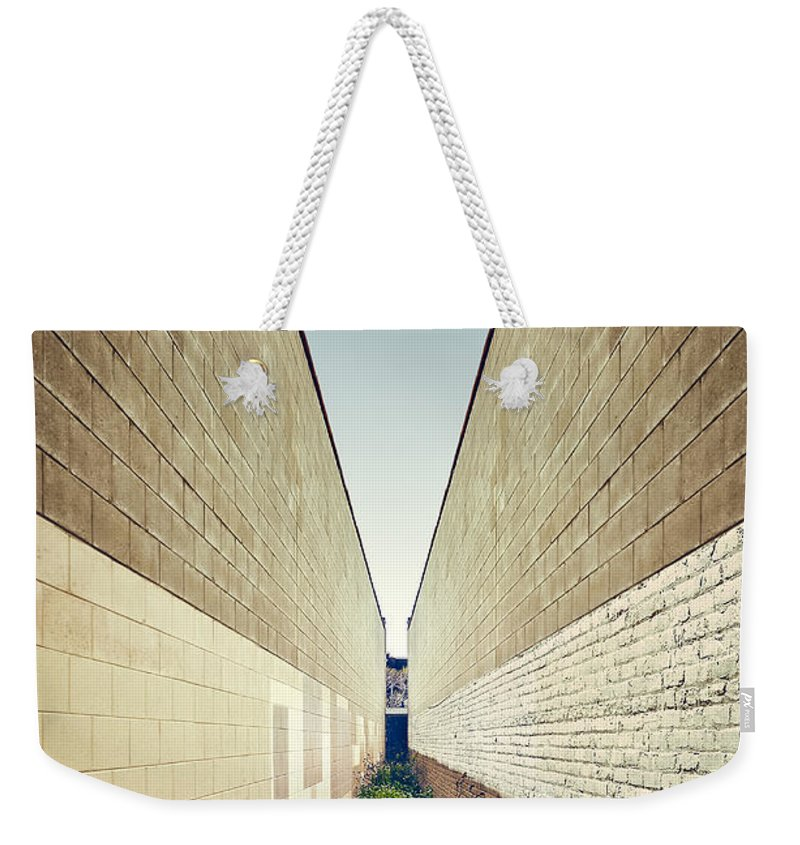 Minimal Weekender Tote Bag featuring the photograph Dead End Alley by Scott Norris