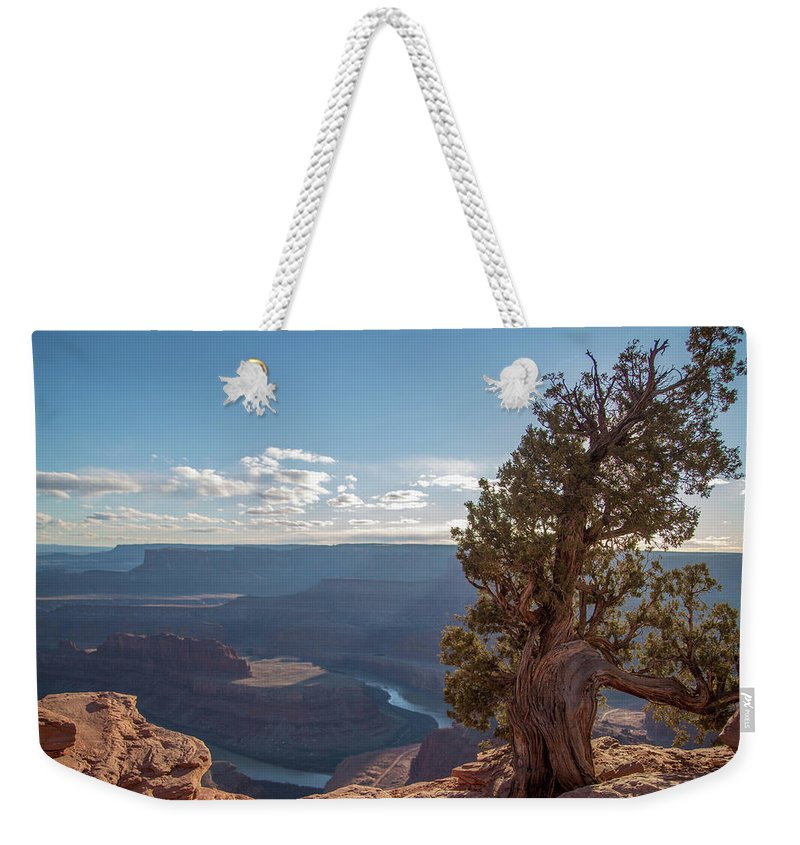 Nature Weekender Tote Bag featuring the photograph Dead Horse Point by Amber Bird