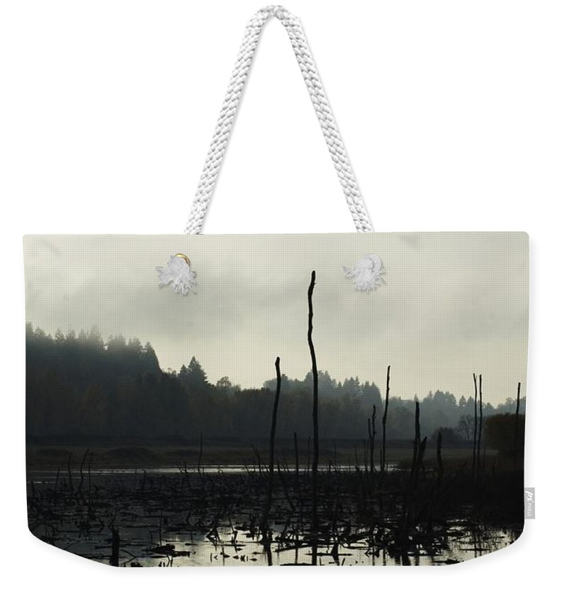 Dead Tree Weekender Tote Bag featuring the photograph Dead Tree Waters by Sara Stevenson