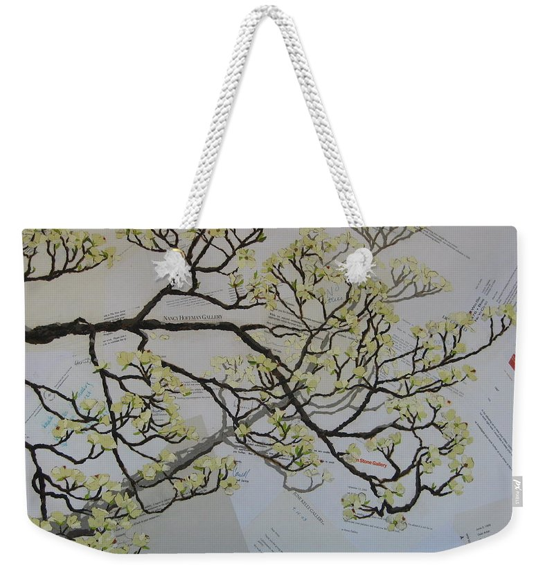 Collage Weekender Tote Bag featuring the painting Dear Artist by Leah Tomaino