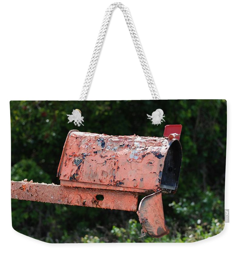 Country Scene Weekender Tote Bag featuring the photograph Death By E Mail by Rob Hans