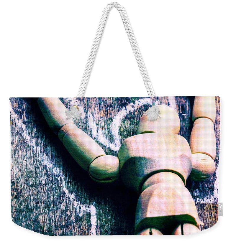 Outline Weekender Tote Bags