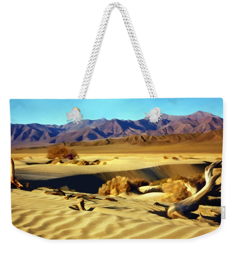 Death Valley Weekender Tote Bag featuring the photograph Death Valley by Kurt Van Wagner