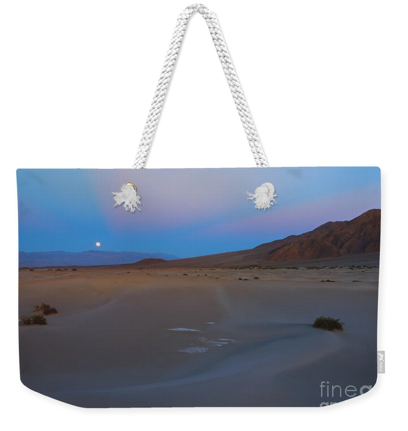 Moonrise Weekender Tote Bag featuring the photograph Death Valley Moonrise by Mike Dawson