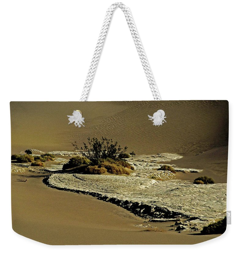 North America Weekender Tote Bag featuring the photograph Death Valley Salt by Juergen Weiss