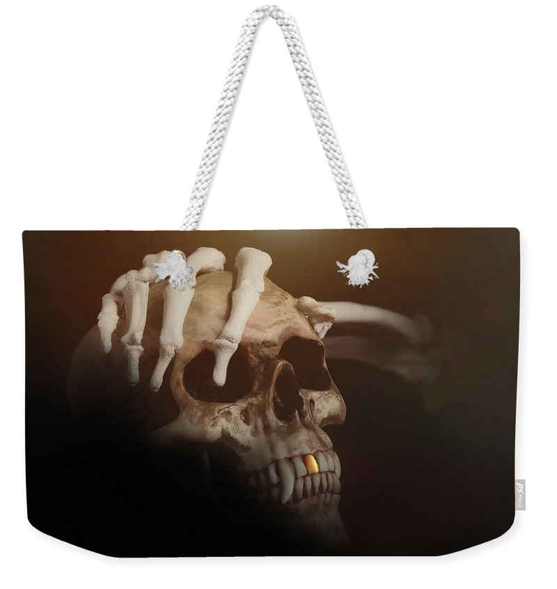 Halloween Weekender Tote Bag featuring the photograph Death's Head by Tom Mc Nemar