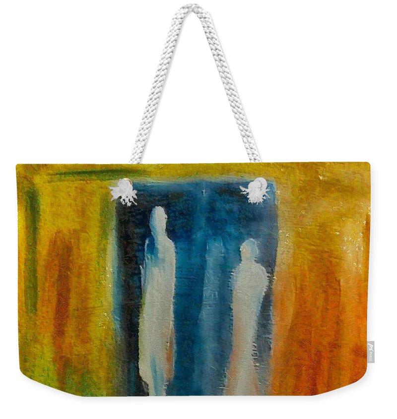 Mixed Media Weekender Tote Bag featuring the mixed media Decision by Dragica Micki Fortuna