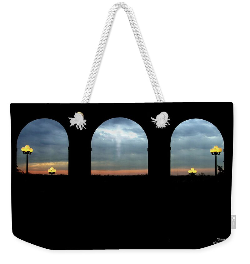 Arch Weekender Tote Bag featuring the photograph Decisions by Albert Stewart