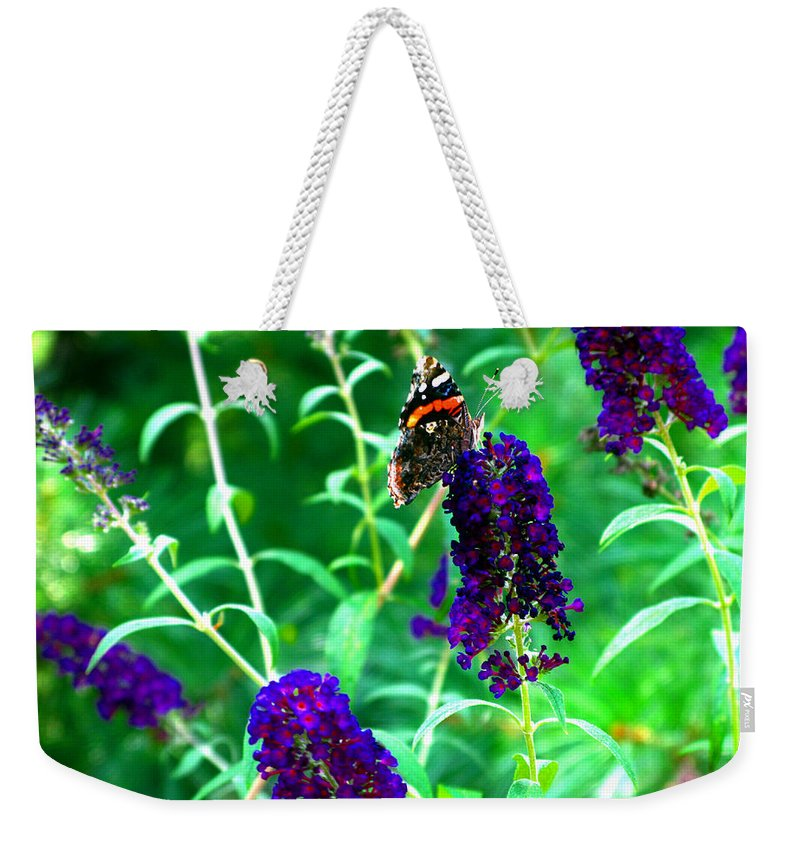 Butterfly Bush Weekender Tote Bag featuring the photograph Decisions... by Brittany Horton