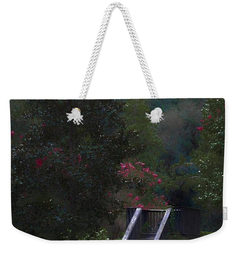 Plantation Weekender Tote Bag featuring the digital art Deck Of Appeasement by DigiArt Diaries by Vicky B Fuller