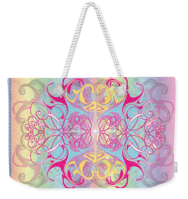 Color Weekender Tote Bag featuring the digital art Decorative 11 by George Pasini