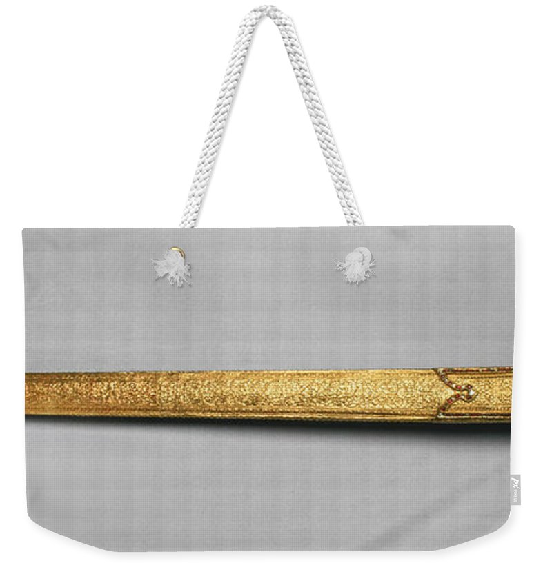 20th Century Weekender Tote Bag featuring the photograph Decorative Sword by Granger