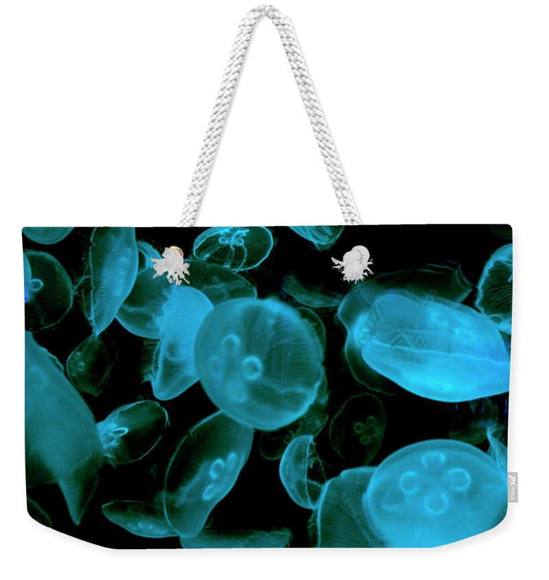 Esther Kather Weekender Tote Bag featuring the photograph Deep Blue by Esther Kather