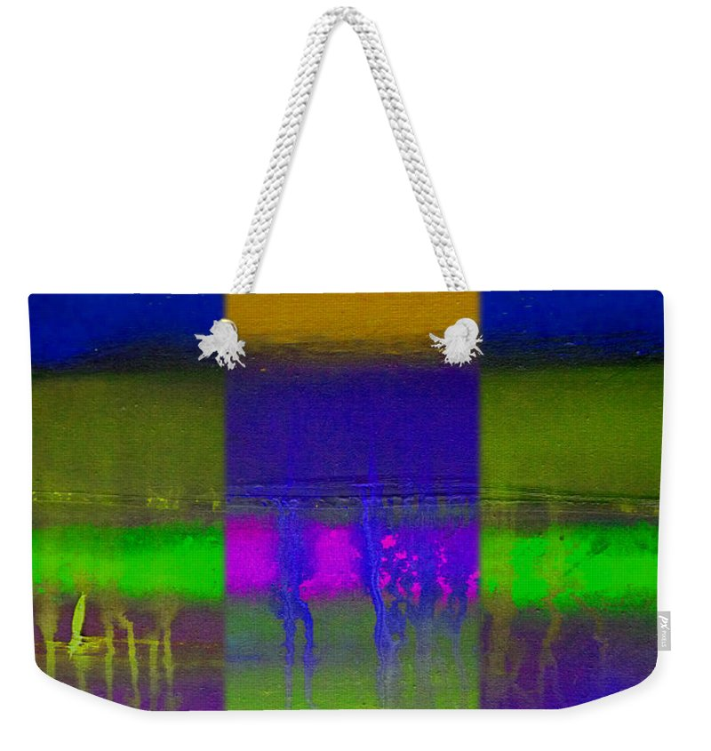 Landscape Weekender Tote Bag featuring the painting Deep Blue Landscape by Charles Stuart